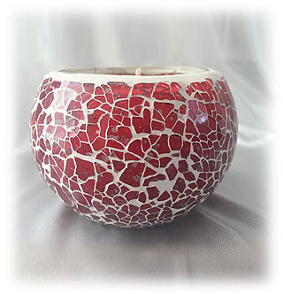 M009 Red Crackle Mosaic